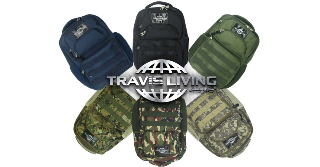 Travis Living Backpacks Perfect Mid-Size Jr Tactical School Sport Backpack FREE U.S Shipping