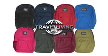 Load image into Gallery viewer, Travis Living Backpacks Black Best Basic Reliable Economical Large Backpack FREE U.S Ship