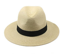 Load image into Gallery viewer, Travis Living Fedora Travel Hat Best Summer Beach Island Tan Panama Fedoras Hats