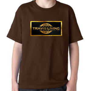 Travis Living Boys Tee Gold Collection Shirt Traveling is Living Boy T-Shirts