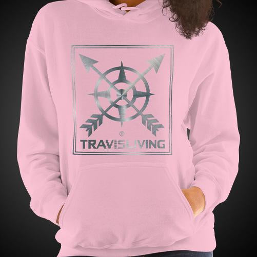 Travis Living Compass Arrow Logo Travel Hoodie Girls Authentic Quality Hoodies Women Hoods