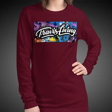 Load image into Gallery viewer, Travis Living Long Sleeve Shirt Womens Travel Palm Trees T-Shirt Girls Tees