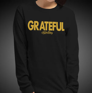 Travis Living Long Sleeve Shirts Womens Grateful T-Shirts Girl Tees