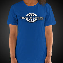 Load image into Gallery viewer, Travis Living Shirt Womens Travel World 3D Platinum Globe T-Shirt Girl Tees