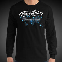 Load image into Gallery viewer, Travis Living Long Sleeve Shirt Mens Travel World Map T-Shirt Men Tees