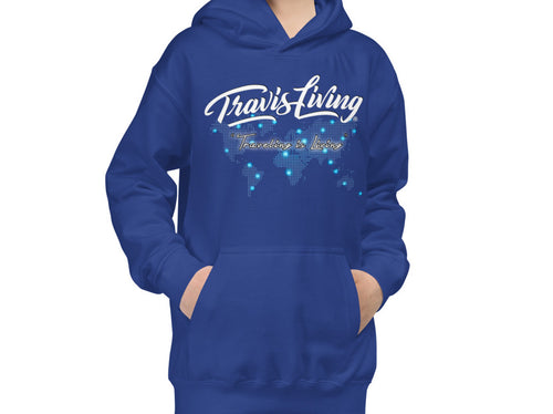 Travis Living Hoodie Travel World Map Youth Boys Hoody Boy Hoods Juniors