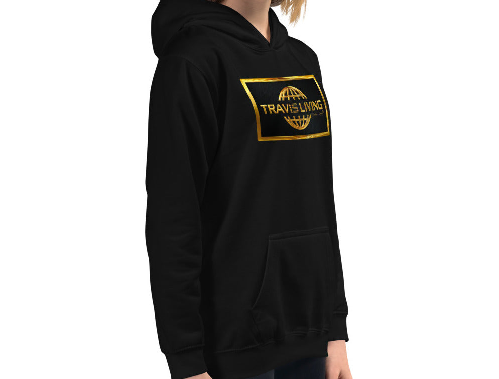 Travis Living Girls Hoodie Gold Collection World Globe Youth Hoody Girl Hoods