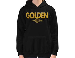 Travis Living Girls Hoodie Golden Hoods Be Golden Youth Hoody Girl Hood