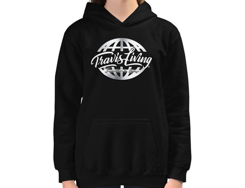 Travis Living Girl Hoodie Traveling is Living Girls Hoodies Youth Hoody