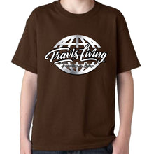 Load image into Gallery viewer, Travis Living Shirt Boys Travel World Platinum Globe Boy Tee Shirts Various Colors