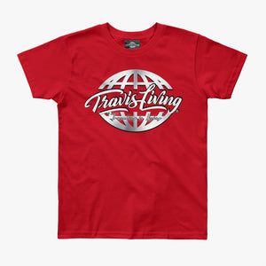 Travis Living Shirt Boys Travel World Platinum Globe Boy Tee Shirts Various Colors