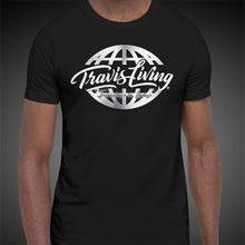 Load image into Gallery viewer, Travis Living Shirt Mens Travel World Platinum Globe T-Shirt Men Tees