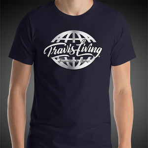 Travis Living Shirt Mens Travel World Platinum Globe T-Shirt Men Tees