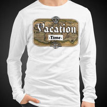 Load image into Gallery viewer, Vacation Time Travis Living Tee Men's Long Sleeve Shirt Authentic Quality Men's Shirts