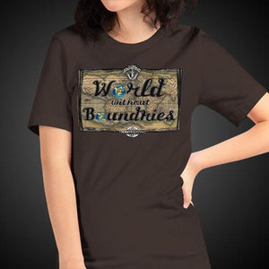 World Without Boundaries Travel Shirt Girls Travis Living Travel T-Shirt Womens Tees