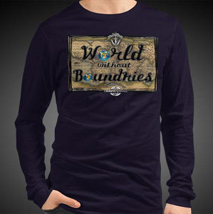 World Without Boundaries Travis Living Tee Men's Long Sleeve Shirt Authentic Quality Men's Shirts
