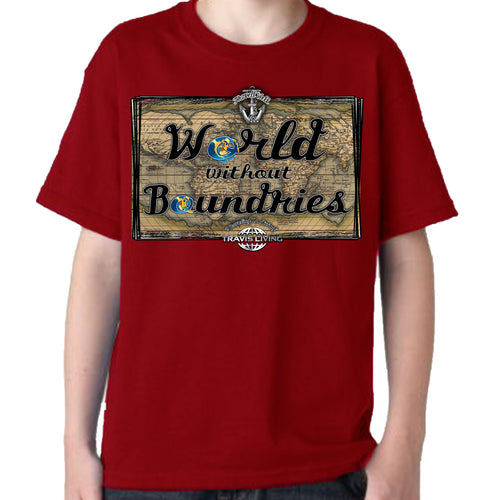 Travis Living Shirt Boys Travel World Without Boundaries T-Shirt Boy Tees