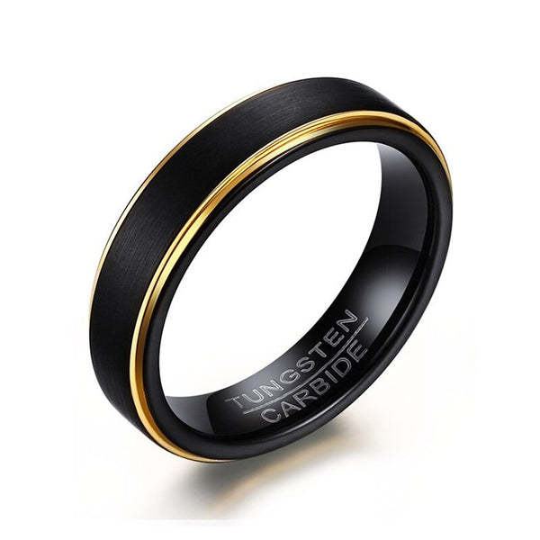 Black Tungsten Material Round Ring