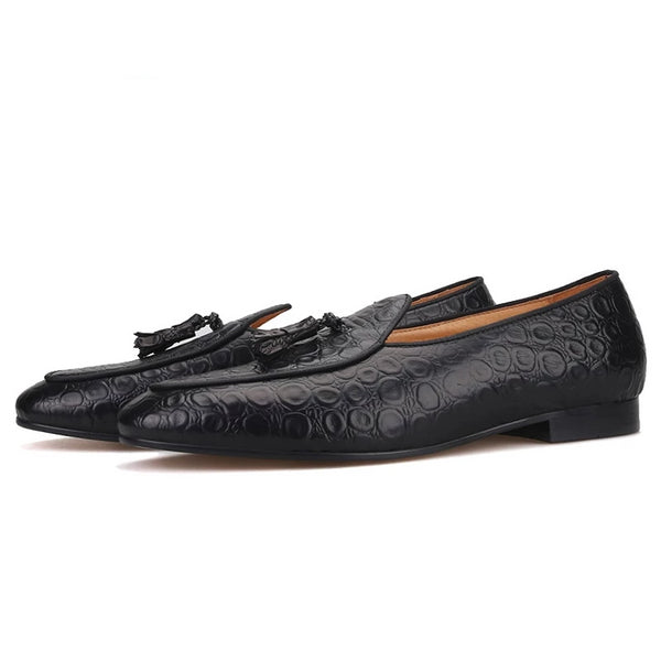 Handmade Embossed Leather loafer