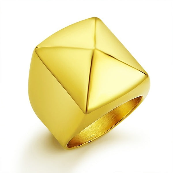 Geometric Pyramid Polished Ring