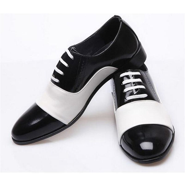 Patent Soft Leather Mixed White Black Shoe