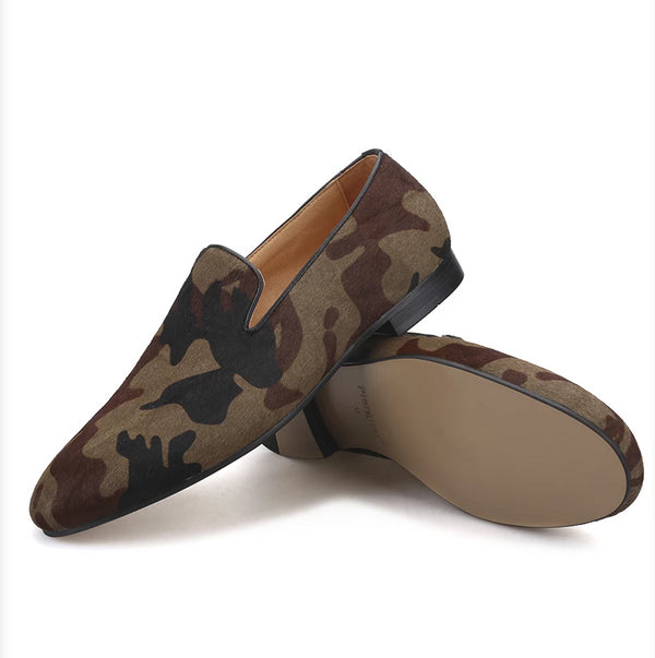Handmade Camouflage classic loafer