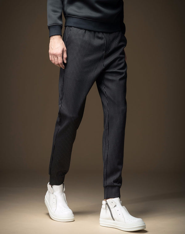 Loose Bamboo Fiber Casual Striped Trouser