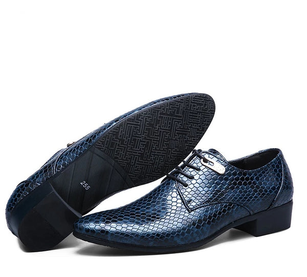 Imitate Snake Leather Oxford shoe