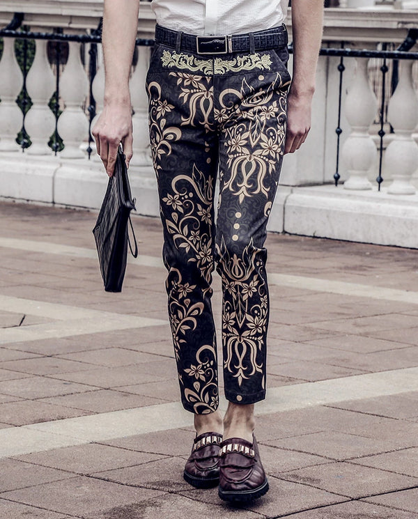 Embroidery  Slim Fit Trouser