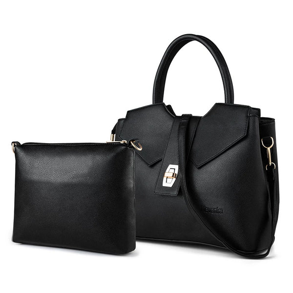 Leather Large Capacity Tote Handbag