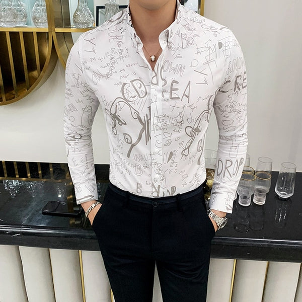 Cotton Slim Fit Long Sleeve Shirt