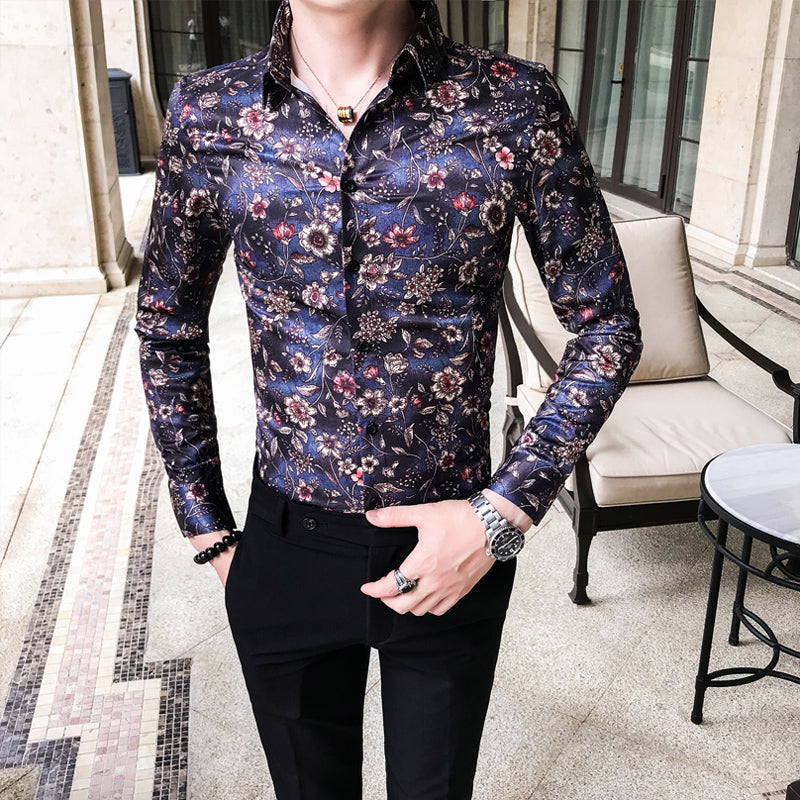 Long Sleeve Patchwork Tuxedo Blouses Shirt