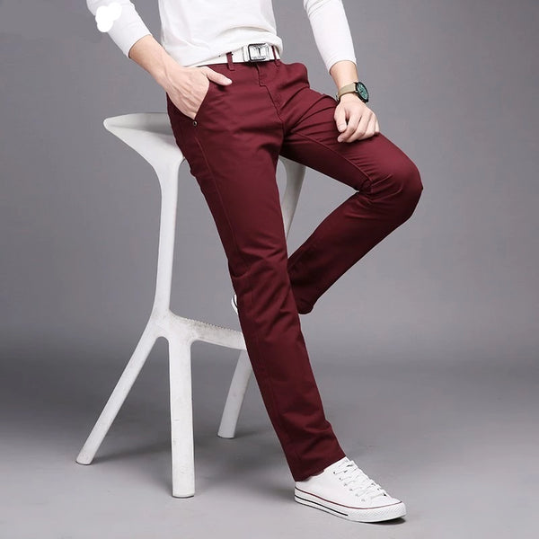 Cotton Slim Casual  Leisure Straight Trouser