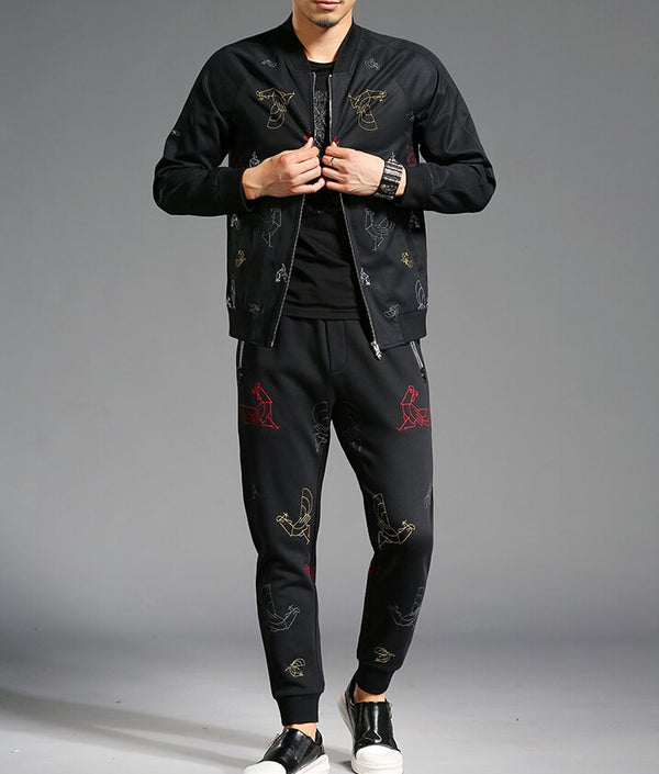 Zipper Up pure cotton Tracksuit