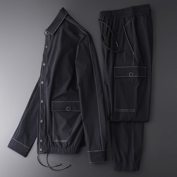 Contrast Color Stitching  Sports Tracksuit