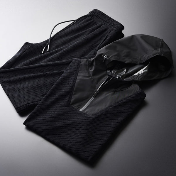 Hooded Short Sleeve Tracksuit