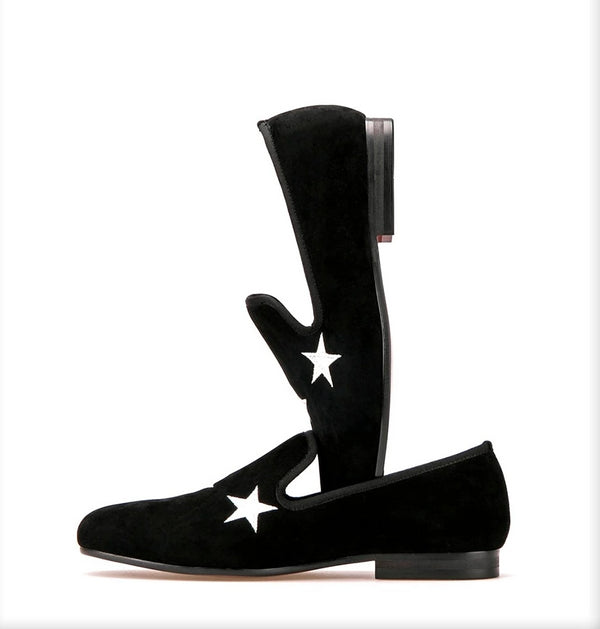 Black Velvet Star Loafer