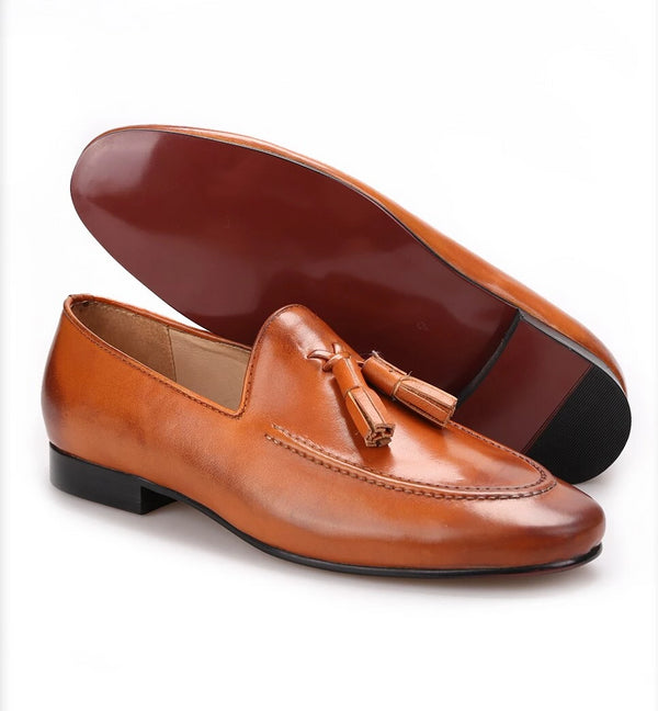 Leather tassel loafer Shoe
