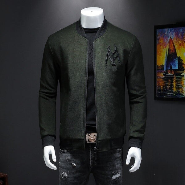 Dark green embroidery jacket