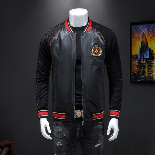 Red Liner leisure embroidery Jacket