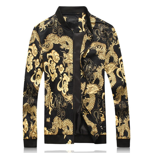 Dragon Gold Print  Vintage Jacket