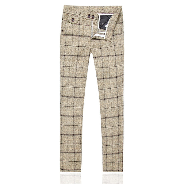Striped Plaid Suit Slim Design trouser