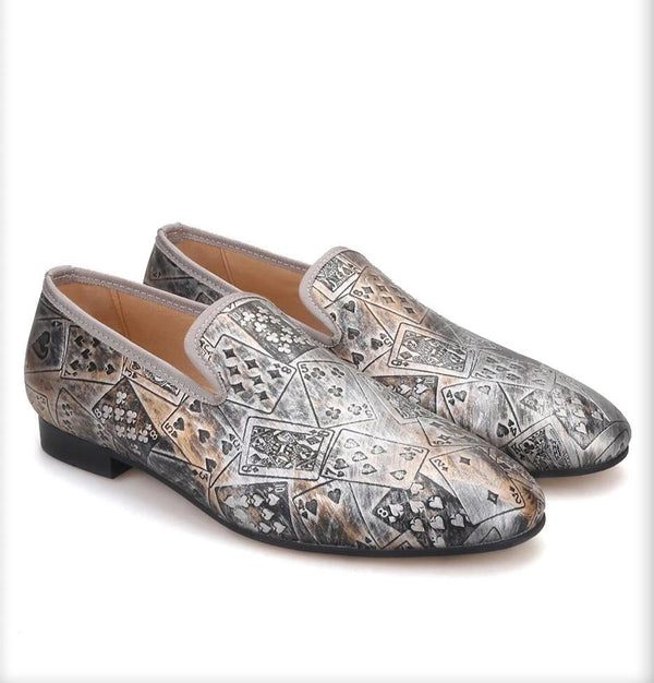 style poker prints banquet loafers
