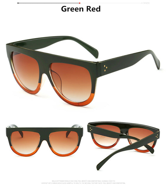 Retro Shield Shape Rivet Shades Sunglasses