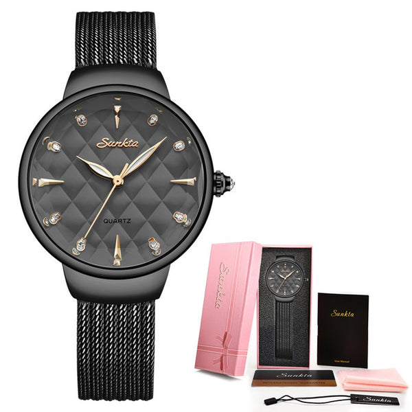 Stainless Steel Waterproof Luxury Quartz Wrist Watch