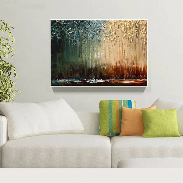 Abstract Interior Design Oil Painting Deep Colors Oil Paint