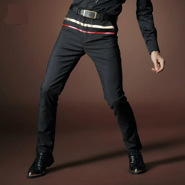 Casual Stickers black slim trouser
