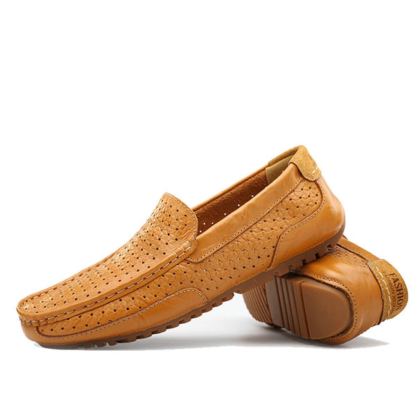 Leather Moccasins Low heel Drivers