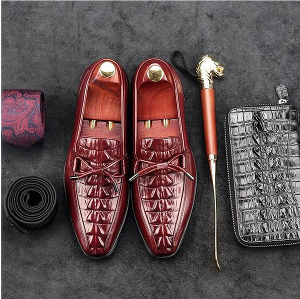 Luxury Crocodile Lace Up Oxford Leather Shoe