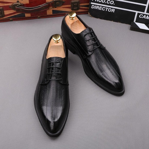 Split leather oxford shoe